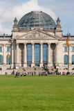 Reichstag in Berlin, Germany. The Reichstag building with its dome in Berlin, Germany Stock Images