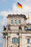 Reichstag in Berlin, Germany. Detail of the Reichstag building in Berlin, Germany Royalty Free Stock Image