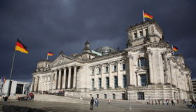 The reichstag in berlin. germany. The reichstag in berlin during hurricane Royalty Free Stock Photos