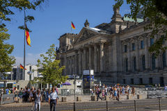 The Reichstag in Berlin Royalty Free Stock Images