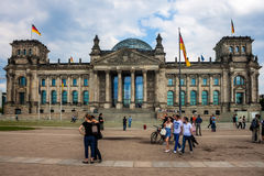 Reichstag in Berlin Royalty Free Stock Photo
