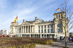 Reichstag in Berlin Royalty Free Stock Image
