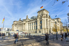 Reichstag in Berlin Royalty Free Stock Photography