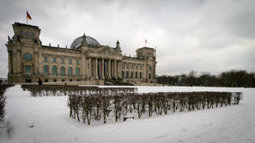 The Reichstag, Berlin, Germany. A winter view of the German seat of government, The Reichstag, in Berlin Stock Image
