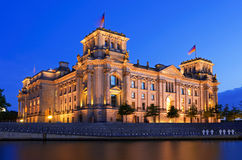 Reichstag berlin night Royalty Free Stock Photography