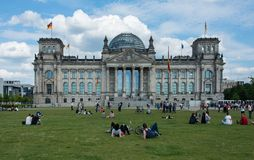 Parliament and doom Reichstag Berlin Reichskuppel royalty free stock images
