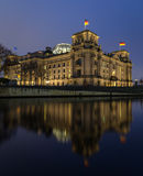 Reichstag, Berlin. Reichstag at Spree river in Berlin in the evening Royalty Free Stock Photos
