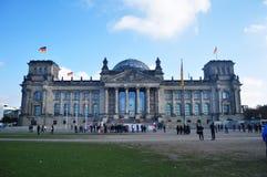 Reichstag budynek jest historycznym gmachem przy Berlin, Niemcy Zdjęcie Royalty Free