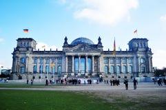 Reichstag budynek jest historycznym gmachem przy Berlin, Niemcy Fotografia Royalty Free