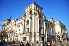 Reichstag budynek jest historycznym gmachem w Berlin, Niemcy Zdjęcia Royalty Free