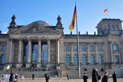 Reichstag budynek jest historycznym gmachem w Berlin, Niemcy Fotografia Royalty Free