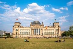 Reichstag budynek siedzenie Niemiecki parlament, Berlin Obraz Royalty Free