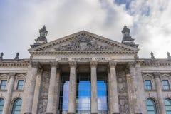 Reichstag budynku szczegół Zdjęcia Stock