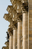Reichstag building. Detail view to the rear of the Reichstag stock photography