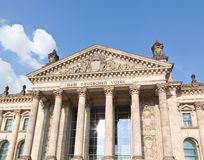 Reichstag building in Berlin Stock Image