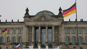 The Reichstag building in Berlin. 1 stock video