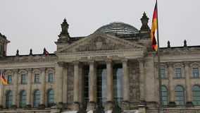 The Reichstag building in Berlin. 2 stock video