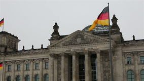 The Reichstag building in Berlin. 3 stock video