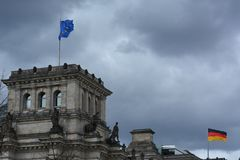 The Reichstag Building in Berlin, Germany Stock Photography