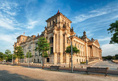 The Reichstag building in Berlin: German parliament Royalty Free Stock Photos