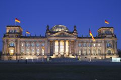 The Reichstag building Stock Image