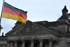 The Reichstag Building in Berlin, Germany Stock Photos
