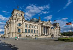 The Reichstag building of Berlin, Germany stock photo