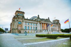 Reichstag building in Berlin, Germany. Early in the morning stock image