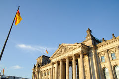 The Reichstag building in Berlin Royalty Free Stock Photos