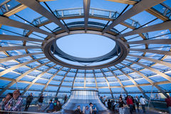 The Reichstag Building Berlin Germany. The modern glass dome on top of the Reichstag building in Germany Stock Photos