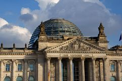 Reichstag building Berlin, Germany. Photos travel, attractions, interesting artifacts, beautiful people Royalty Free Stock Photo