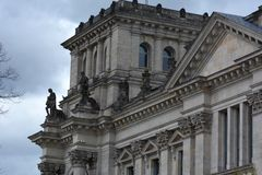 The Reichstag Building in Berlin, Germany Royalty Free Stock Photos