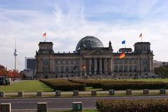 The Reichstag building Stock Photos