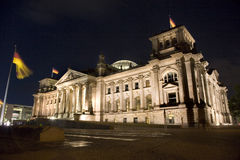 Reichstag Building in Berlin at Night Stock Images