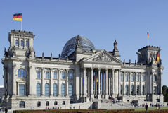 Reichstag building in Berlin Stock Photos