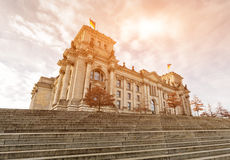 The Reichstag building (Bundestag), Berlin Germany Royalty Free Stock Photo