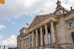 Reichstag Building and German Flag, Berlin Stock Photos