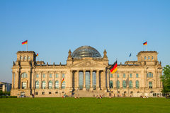 Reichstag building (german government) in Berlin, Royalty Free Stock Image