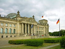 Reichstag building (German parliament) Stock Images