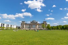 Reichstag building german parliament Berlin stock image