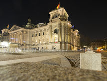Reichstag building by night, Berlin, Germany Stock Images