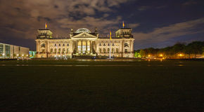 Reichstag Building at Night, Berlin, Germany Royalty Free Stock Photography