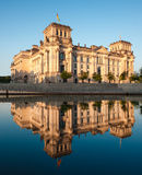 The Reichstag building reflected in the river Royalty Free Stock Photo