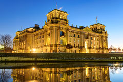 The Reichstag building at the river Spree in Berlin Royalty Free Stock Photos