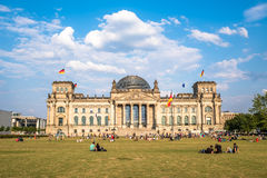 The Reichstag building, the seat of German parliament, Berlin Royalty Free Stock Image