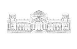 Reichstag building Royalty Free Stock Photography