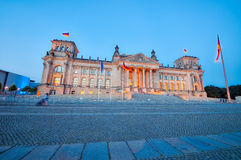 Reichstag building at sunset, Berlin Royalty Free Stock Images