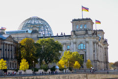 Reichstag building at sunset, Berlin, Germany Royalty Free Stock Photos
