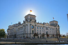 Reichstag building at sunset, Berlin, Germany Royalty Free Stock Photography