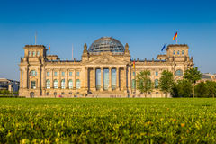 Reichstag building at sunset, Berlin, Germany royalty free stock images